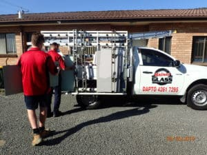 Workers Loading the Ute for a Glass Repair in Dapto, NSW