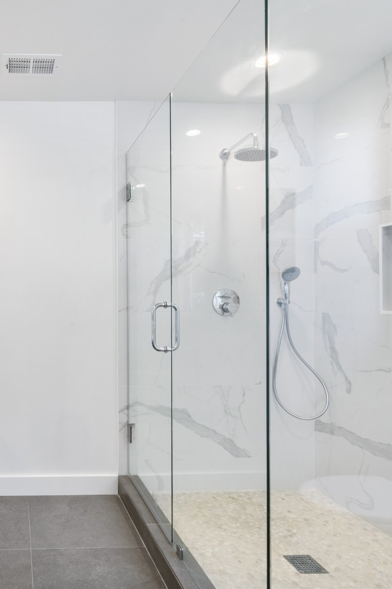 Picture of a shower screen in a bathroom